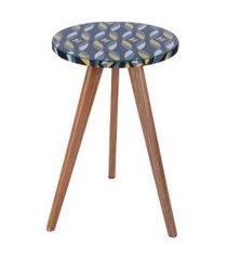 mesa lateral alta daf mobiliário minion colorido/preto
