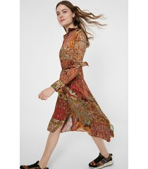 shirt dress metallic print - material finishes - xl