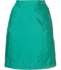 christian dior pre-owned straight mini skirt - green