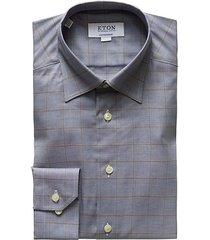 contemporary-fit windowpane dress shirt
