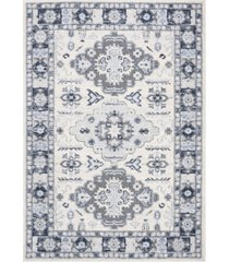 "safavieh harbor blue and creme 5'3"" x 7'6"" sisal weave area rug"