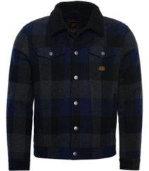 superdry men's highwayman wool sherpa trucker jacket