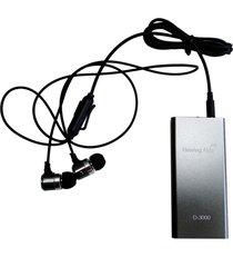 binaural auriculares mp3 d-3000 de sonido del amplificador de sonidos del colector de audífonos negro