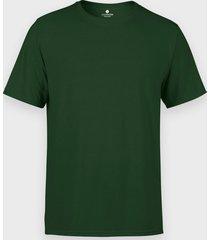 męska koszulka (bez nadruku, gładka) - ciemnozielona