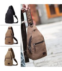 vintage canvas casual outdoor travel multi-function chest borsa crossbody borsa
