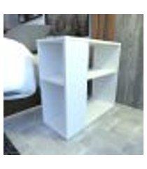 mesa de cabeceira 25x60x55 cm mdf branco tx modelo en1801mc