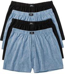 boxer largo in jersey (pacco da 4) (blu) - bpc bonprix collection