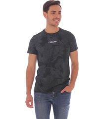 camiseta casual con estampado tropical - hombre