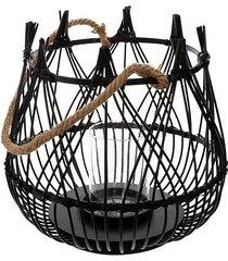 lampion bambusowy czarny