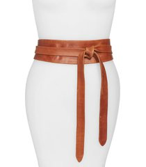 women's ada handmade leather wrap belt