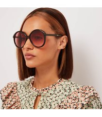 chloé women's billie recycable acetate sunglasses - brown/orange