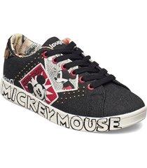 shoes cosmic mickey deni låga sneakers svart desigual shoes