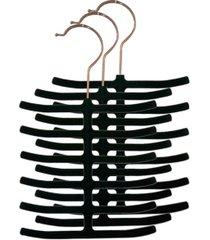home basics 3 piece velvet tie hanger