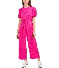 riley & rae adalynn printed belted jumpsuit, created for macy's