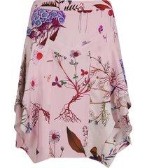 stella mccartney ruffled mid-length skirt