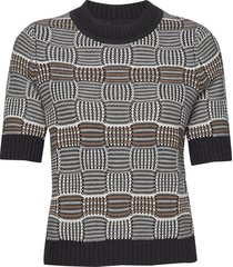 hildeiw pullover t-shirts & tops knitted t-shirts/tops multi/patroon inwear