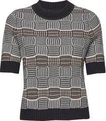 hildeiw pullover t-shirts & tops knitted t-shirts/tops zwart inwear