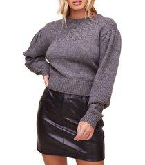 women's astr the label samantha sweater, size medium - grey