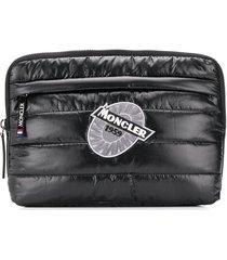 moncler padded computer case - black