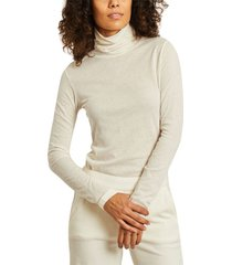 cotton and cashmere long sleeves turtleneck top