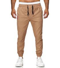 pantalones de jogging con bolsillo para hombre casual pantalones