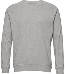 cotton rib melange stelt sweat-shirt tröja grå mads nørgaard