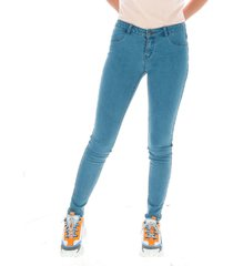 jeans mujer essential jegging celeste cat
