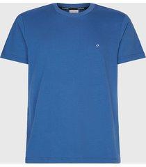 polera calvin klein cotton logo embroidery t-shirt azul - calce regular