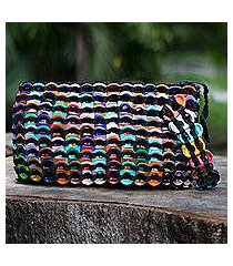 soda pop-top wristlet bag, 'rainbow night eco chic' (brazil)