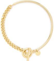 brook & york sawyer 14k gold plated toggle bracelet