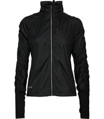 gathered wind jacket outerwear sport jackets svart casall