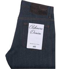 easy guy cashmere stretch blend denim jeans - indigo 101362506-ind