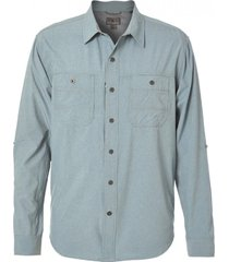camisa long distance verde royal robbins by doite