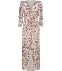 victoria organic silk dress flower maxiklänning festklänning vit notes du nord