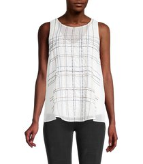 nic+zoe women's in the lines tank top - size xxl