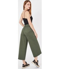 jeans culotte verde amalia jeans