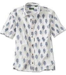 batik print short-sleeved shirt, xx large