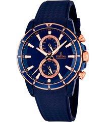 reloj chrono sport azul oscuro  festina