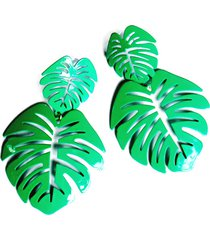 aretes mujer verde tropical amme
