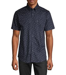 dot-print short-sleeve shirt