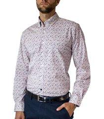 camisa trevira microdiseño listado spandex regular fit mcgregor