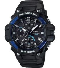 reloj analógico hombre casio mcw-110h-2a cronógrafo - negro