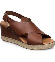 espadrilles 4336 sandalette med klack espadrilles brun billi bi
