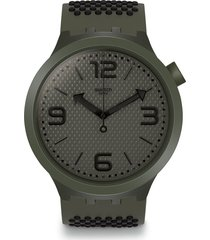 reloj swatch unisex big bold bbbubbles/so27m100 - verde