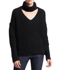 adia choker chunky knit sweater