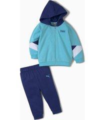 minicats joggingpak met ronde hals baby's, blauw, maat 98   puma