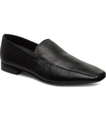 viola black leather loafers låga skor svart flattered
