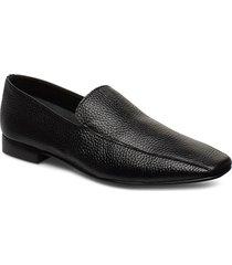 viola black leather loafers låga skor svart flattered