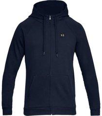 chaqueta azul under armour rival fleece fz hoodie 1320737-408
