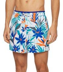 boss men's recycled-fabric swim shorts